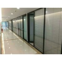 双玻百叶隔断 5mm双层钢化玻璃,84型铝材,12mm百叶叶宽或25mm百叶叶宽