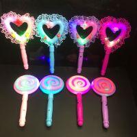 厂家直销|新款发光棒棒糖|闪光糖果棒|地摊夜市发光玩具热销