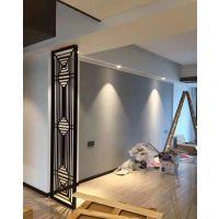 现代化不锈钢镂空屏风多边形装饰 不锈钢花格玄关隔断
