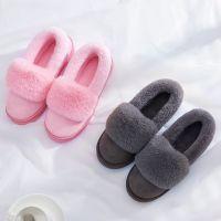 2017棉鞋保暖毛毛女鞋居家室内加绒冬季新款厚家居女士室外