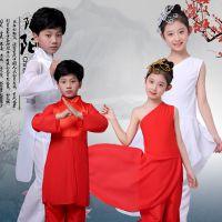 儿童古典舞蹈服现代舞表演服少儿武术演出服男女童跆拳道中国风服