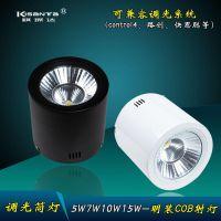 led可调光筒 COB5W7W12W18W 明装调光亮度筒灯control4调光系统