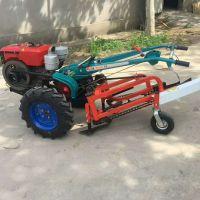 新型手扶用土豆收获机 全自动铺放式挖蒜机 宽幅地瓜挖掘机