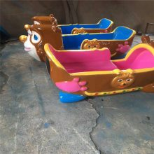 夏季广场玩水设备熊出没戏水玩具六臂八臂豪华电动轨道火车水陆战车