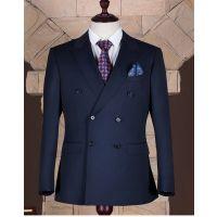 西服套装男士修身商务正装纯色职业西装黑色两粒扣 成都商务西服定制