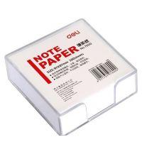 得力7600便签纸带盒便条纸/记事白纸 方便拿取 规格91*87mm/300张