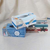 地中海创意木质纸巾盒多功能餐巾纸盒 卫生间酒店抽纸盒家居装饰