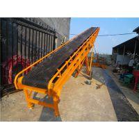 袋装黄豆装车输送机 化工厂PVC传送机 防滑升降式输送带