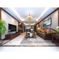 山水装饰装修设计合肥天下锦城200平四室两厅简美风格效果图