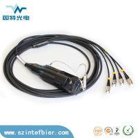 深圳因特供应2芯车壁式光纤连接器 4芯野战光纤连接器 6芯野战航空接头 光纤快速连接器