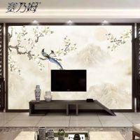 定制无缝3D壁纸墙纸大型壁画卧室客厅电视背景墙布唯美花卉