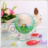 和美-鸳鸯婚礼礼品,高档琉璃水晶工艺品定制