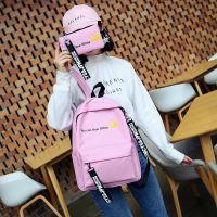2017韩版新款字母双肩背港风男女潮大容量原宿风背包一件代发