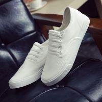回天韩版潮流休闲小白鞋白色帆布鞋老北京懒人布鞋男鞋8157