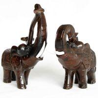 礼品摆件红木大象工艺品摆件 实木木雕刻木象家居摆设