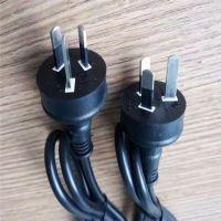 澳规品字尾电源线 澳插三插0.75平方1.2米三芯插头电源线