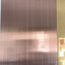 紫铜不锈钢板 山西古城扶手工程用镀紫铜304不锈钢管