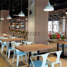 广州食堂铁皮椅子批发,时尚大学食堂家具定做直销