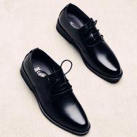 黑皮鞋男工作务正韩版潮流英伦商上班装百搭青年西装尖头休闲皮鞋