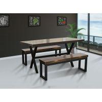 农安食堂餐桌椅可选择面板色系定制生产