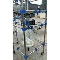 转让二手玻璃反应釜,二手单层玻璃反应釜,200L