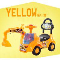 儿童玩具大号挖掘机带音乐宝宝可坐可骑工程车滑行车儿童挖土机