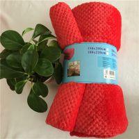 外贸素色法兰绒毛毯礼品贵族毯礼品毯富硒恒温毯