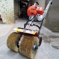 振鹏钢丝轮打磨机房屋除锈设备彩钢瓦除锈机
