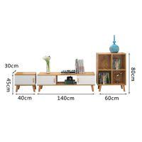 简易电视柜小户型储物柜超薄窄落地书架省空间一体现代简约经济型