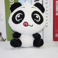 七寸20cm毛绒玩具Q版熊猫  儿童生日礼物汽车挂饰开业跨境专供