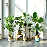 北欧简约创意仿真植物盆栽室内大型盆景家居装饰品客厅落地大摆件