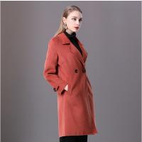 楚贝尔秋冬羊绒毛呢大衣中长款韩版修身显瘦时尚女士双面呢外套