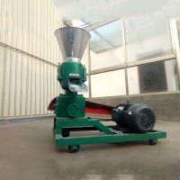 驰航青贮饲料造粒机 新能源生物质稻壳造粒机 单螺杆浮料颗粒机