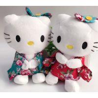 批发精品Hello Kitty毛绒玩具和服kt猫公仔婚庆抓机布娃娃7寸挂件