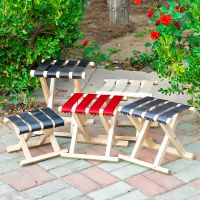 实木制成人家用靠背可折叠迷你木椅子矮木凳子木质登子马扎