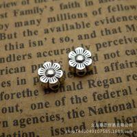 合金珠子 6*3mm 花 植物 扁珠 串珠 手链配件 速卖通货源 12996