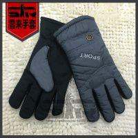 户外冬季男士骑车手套加绒加厚防风防水防滑男女骑行保暖棉手套男