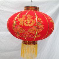 植绒灯笼全红印字过年喜庆装饰灯笼定做大型灯笼