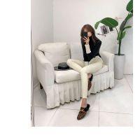 羽纱国际杭州外贸尾货服装批发市场在哪里折扣女装 品牌服装店进货渠道尾货银色休闲裤