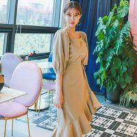 璞秀国外品牌女装代理 折扣女装加盟尾货紫色多种款式