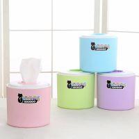 洛可可卷筒纸巾盒抽取式餐巾纸盒洗手间卫生纸塑料圆形抽纸盒定做