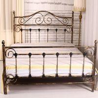 欧式床双人床铁架钢架简易钢木床宿舍床铁架床1.5米1.8米复古铁艺
