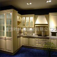 叶林同厂家订做吸塑整体橱柜 简欧橱柜 厨房橱柜 促销价 质优价廉