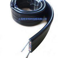 上海格采移动行车电缆GC-YFFBG-PUR4*10天车专用柔性电缆4X16特种抗拉耐磨扁平电缆