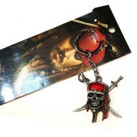 电影周边新款加勒比海盗王杰克新款钥匙扣二款钥匙扣