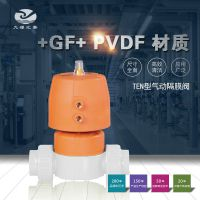 GF PVDF TEN型油令式气动隔膜阀/双作用/EPDM+PTFE/FPM+PTFE