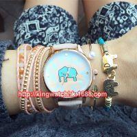 正品韩版大象手表 geneva学生女表男表石英仿水手表 皮带手表