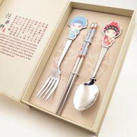 京剧脸谱餐具 民间工艺品 特色中国风小礼品礼物 出国外贸纪念品