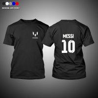 新款梅西Messi圆领印花纯棉男士足球队服休闲套头训练服T恤
