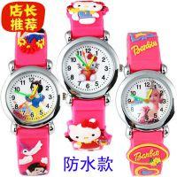 淘宝热销批发橡胶电子表白雪公主卡通小孩子学生女孩儿童手表供应
